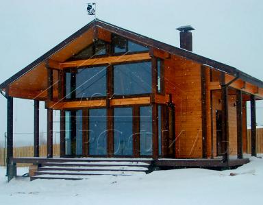 Банный дом из клееного бруса
